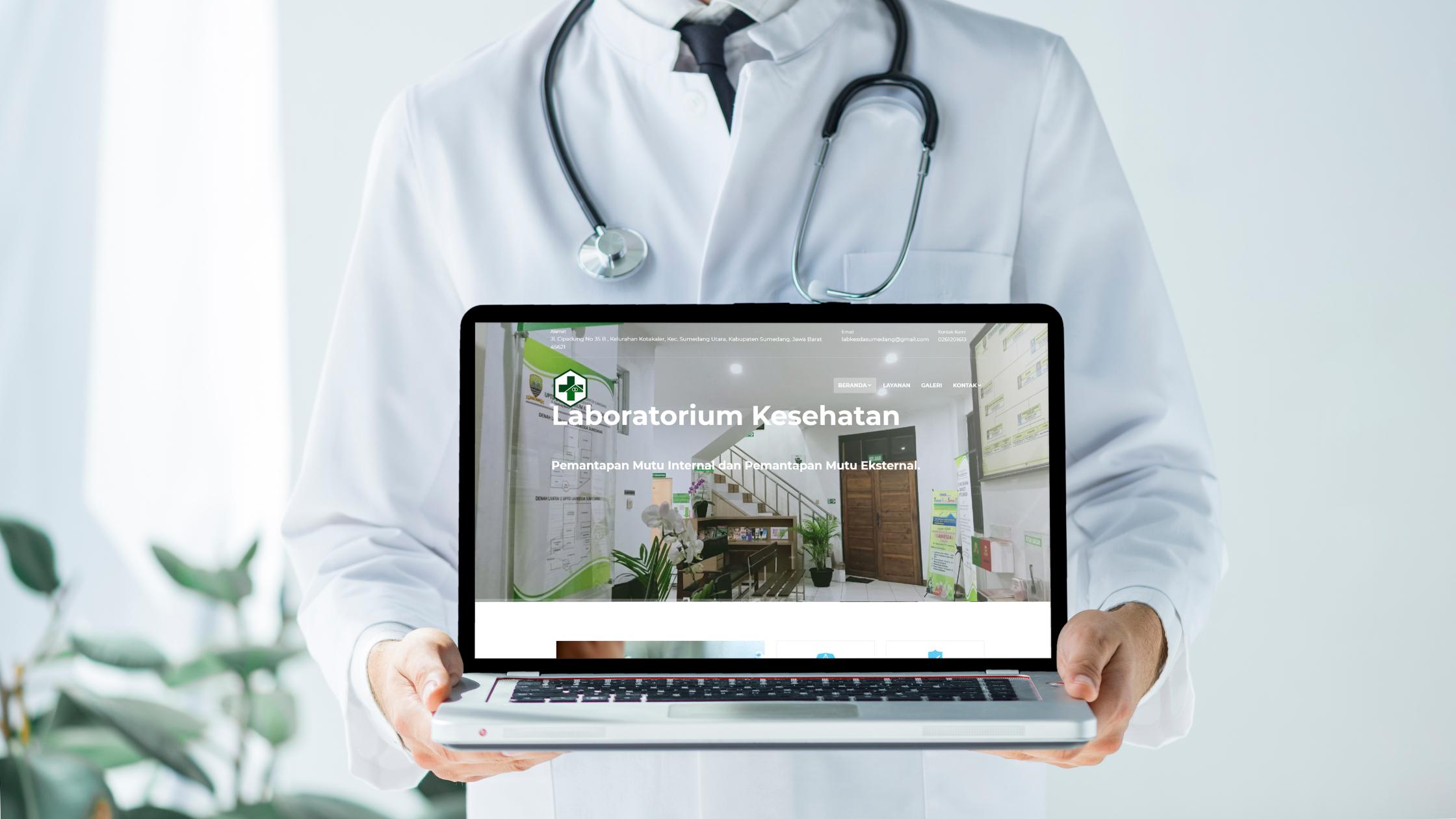 Website Laboratorium Kesehatan Daerah