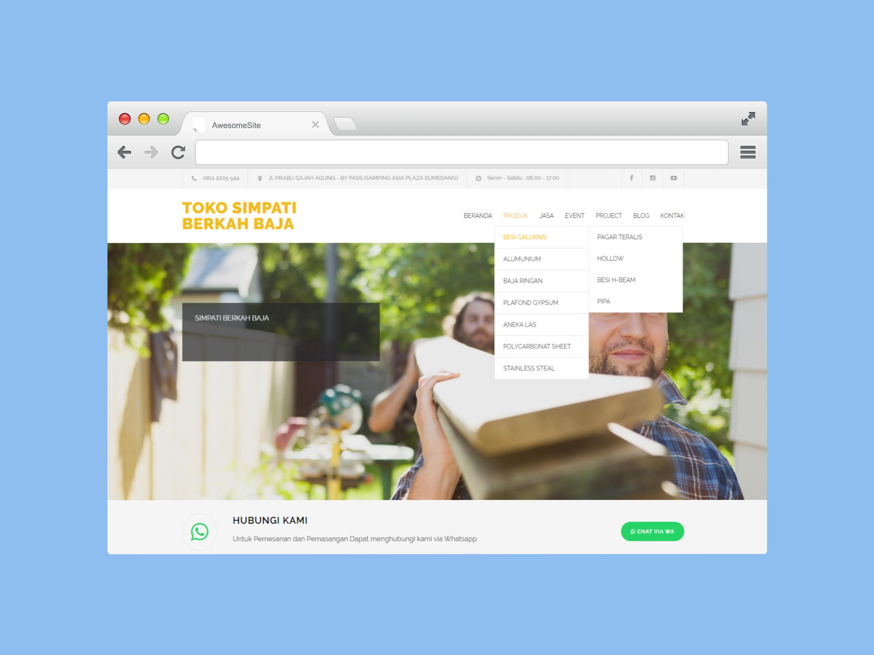 Website Untuk Bisnis Konstruksi
